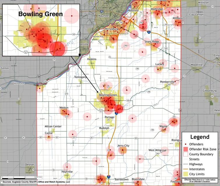 wood county heat map