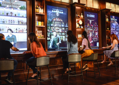 Interactive displays at Sazerac House